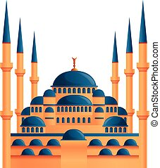 イスタンブール, 漫画, スタイル, アイコン, モスク
