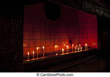 イスタンブール, 蝋燭 ライト, st., アンソニー, 教会, padua