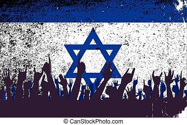 イスラエル共和国 旗, 聴衆