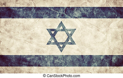 イスラエル, グランジ, flag., 型, 項目, 旗, レトロ, コレクション, 私