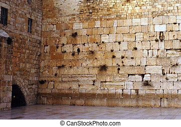 イスラエル, 壁, 旅行, -, 写真, 西部, エルサレム