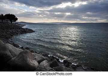 イスラエル, 旅行, -, 写真, galilee, 海