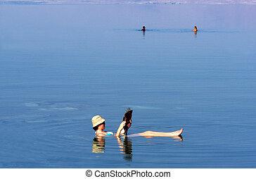 イスラエル, 旅行, -, 死んだ, 写真, 海