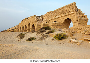 イスラエル, 水路, 地中海, ceasarea, ローマ人, 海, 海岸