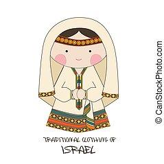 イスラエル, 衣類, スタイル, 漫画, 伝統的である