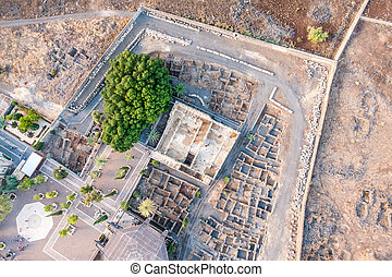 イスラエル, galilee, 航空写真, capernaum, 光景