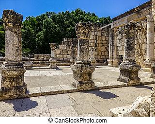 イスラエル, synagogue, 台なし, capernaum