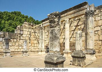 イスラエル, synagogue, 残物, 海, capernaum, galilee, capernaum