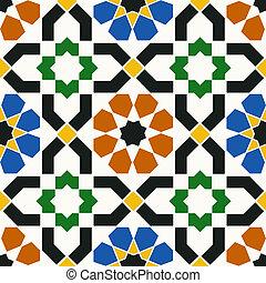 イスラム教, 幾何学的, seamless, パターン