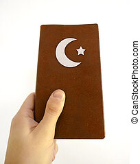 イスラム教, 本, 手を持つ