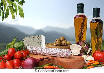 イタリアの 食糧