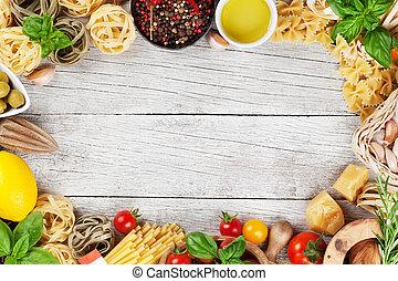イタリア語, 食品。, パスタ, 原料