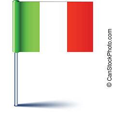 イタリア語, flag.