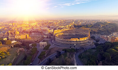 イタリア, コロシアム, ローマ, flavian, colosseum, amphitheatre, ∥あるいは∥