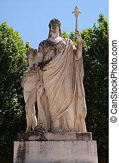 イタリア, スペイン, lucca, duchess, 像, マリア, lucca, louisa