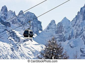 イタリア, ∥ディ∥, campiglio., リゾート, madonna, スキー