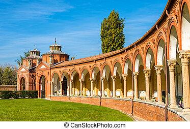 イタリア, 墓地, -, 記念碑のようである, ferrara, certosa