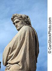 イタリア, 広場, croce, dante, 有名, santa, 詩人, フィレンツェ, alighieri.