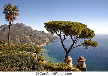 イタリア, ravello, 海の 眺め
