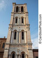 イタリア, san, 鐘, ferrara, 大聖堂, タワー, giorgio's