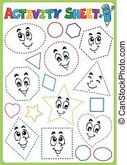 イメージ, シート, 活動, topic, 3