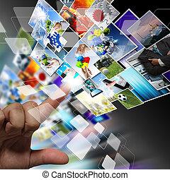 イメージ, ストリーミング, 概念, インターネット