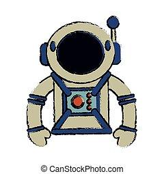 イメージ, スーツ, 宇宙飛行士, スペース