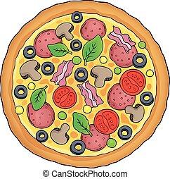 イメージ, ピザ, 主題, そっくりそのまま, 1