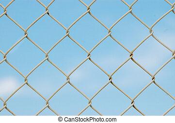 イメージ, フレーム, フェンス, フルである, 金属