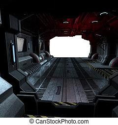 イメージ, 作曲する, 中, ∥あるいは∥, scifi, 背景, 宇宙船, 未来派