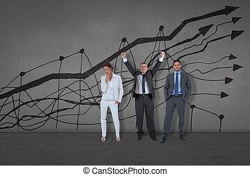 イメージ, 合成, 人々ビジネス