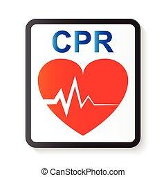イメージ, 心電図, ), 進んだ, 心臓, 心, cpr, ecg, 基本, 蘇生, cardiopulmonary...