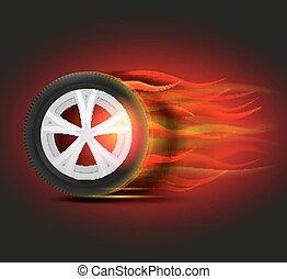 イメージ, 燃焼, tyre
