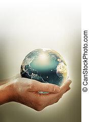 イメージ, 環境, 概念, 保護