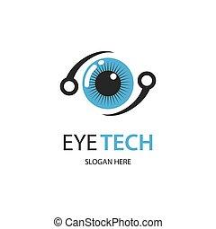 イメージ, 目, ロゴ, 技術