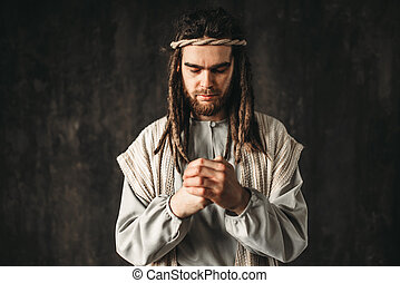 イメージ, 祈ること, キリスト, 人, イエス・キリスト