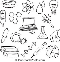 イメージ, 科学, スケッチ