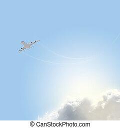 イメージ, 空, 飛行機