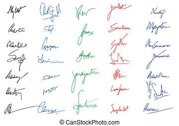 イメージ, 署名