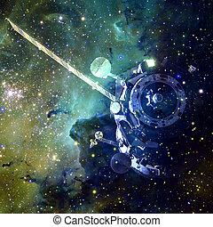 イメージ, 要素, spacecraft., wallpaper., これ, 科学, 供給される, nasa, フィクション