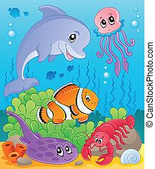 イメージ, 5, 主題, 海中の