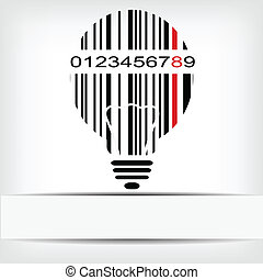 イメージ, barcode, 赤, ストリップ