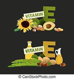 イメージ, e, ビタミン