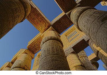 イメージ, hdr, 寺院, コラム, -, karnak
