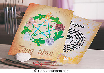イメージ, shui, 概念, feng