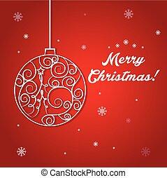 イラスト, の, クリスマス, ball., ベクトル