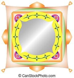 イラスト, の, mirror.eps