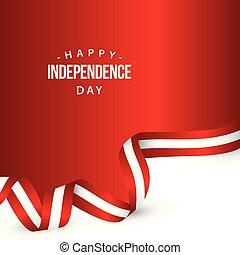 イラスト, オーストリア, ベクトル, デザイン, テンプレート, 日, 独立, 幸せ