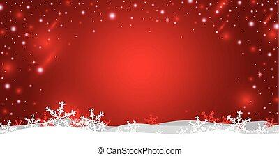 イラスト, クリスマス, ベクトル, デザイン, 背景, 雪片