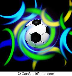 イラスト, デザイン, デジタル, 概念, 流行, サッカー